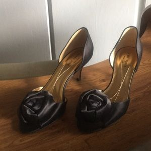 Kate Spade Black Satin Classy Dress Shoes Heels